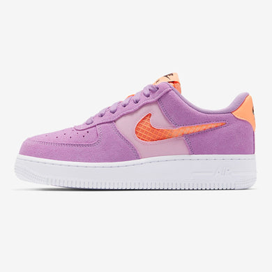 Women's Nike Air Force 1 '07 SE (Violet Star/Light Arctic Pink/Black/Orange Pulse)(CJ1647-500)