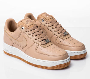 Women's Nike Air Force 1 '07 PRM (Bio Beige Beige Metallic Silver)