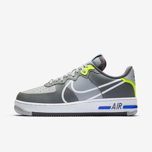 Men's Nike Air Force 1 React (Wolf Grey/Smoke Grey/Dark Grey/White)(CD4366-002)