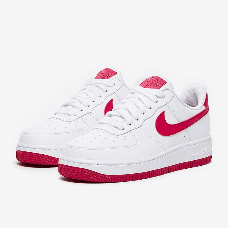 sports shoes 991d5 18eda Women's Nike Air Force 1 Low (White Wild Cherry Red Noble)