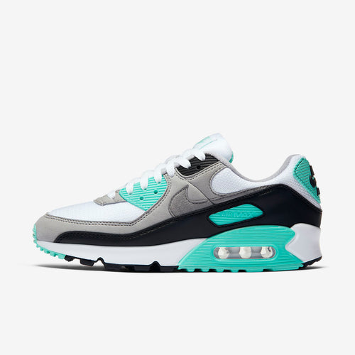 Women's Nike Air Max 90 (White / Particle Grey / Hyper Torquoise)(CD0490-104)