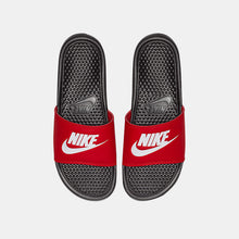 "Nike Benassi ""Just Do It"" Classic ""BREDS"" (Black/White /University Red)(343880-026)"