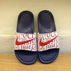Women's Nike Benassi JDI Print (Deep Royal/University Red/White)