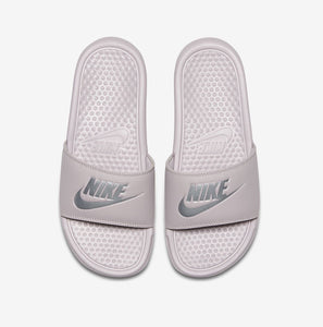 Women's Nike Benassi JDI Slides (Particle Rose /Metallic Silver / Old Rose)(343881-614)