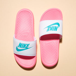 Nike Benassi JDI Womens (Sunset Pulse / Teal Nebula White)(343881-616)