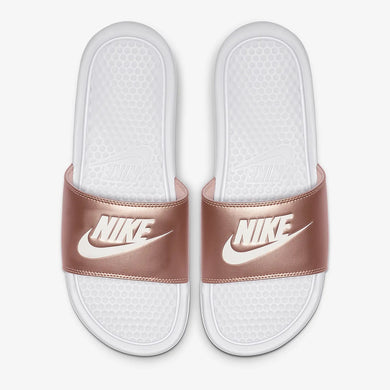Nike Benassi JDI WMNS (White Metallic Red Bronze Rose Gold )
