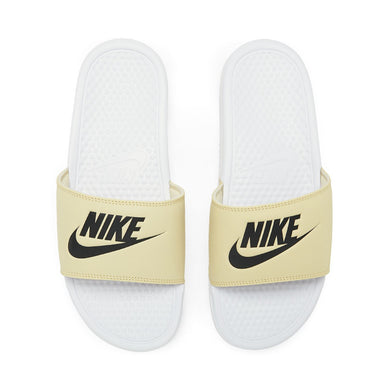 Nike Benassi JDI Slides (White Team Gold)