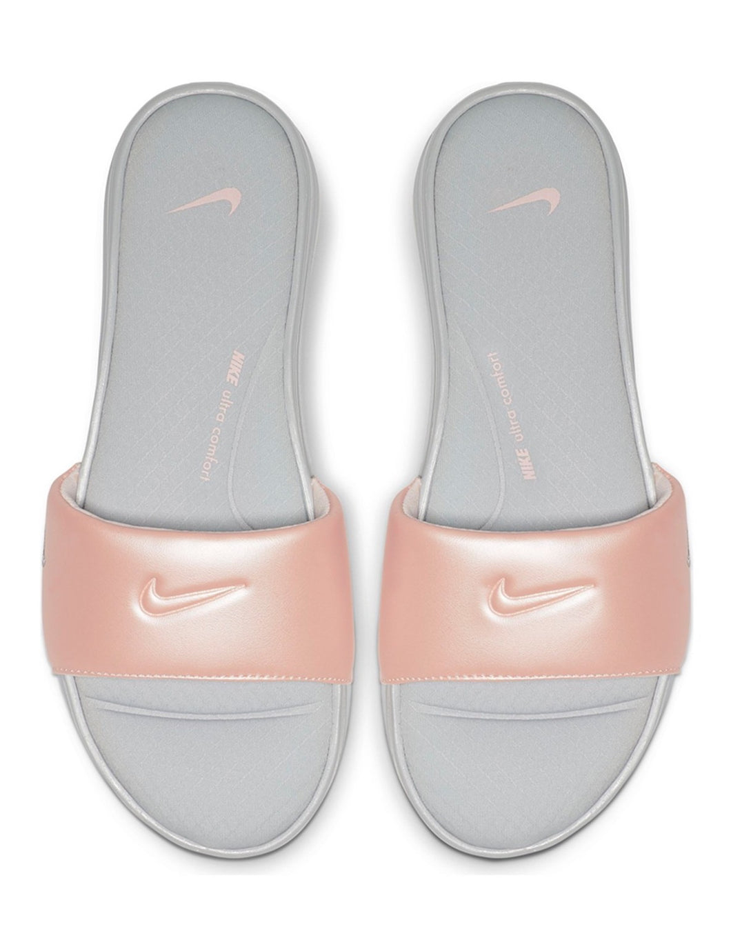Women's Nike Ultra Comfort 3 Slides (Wolf Grey/Echo Pink)(AR4497-008)