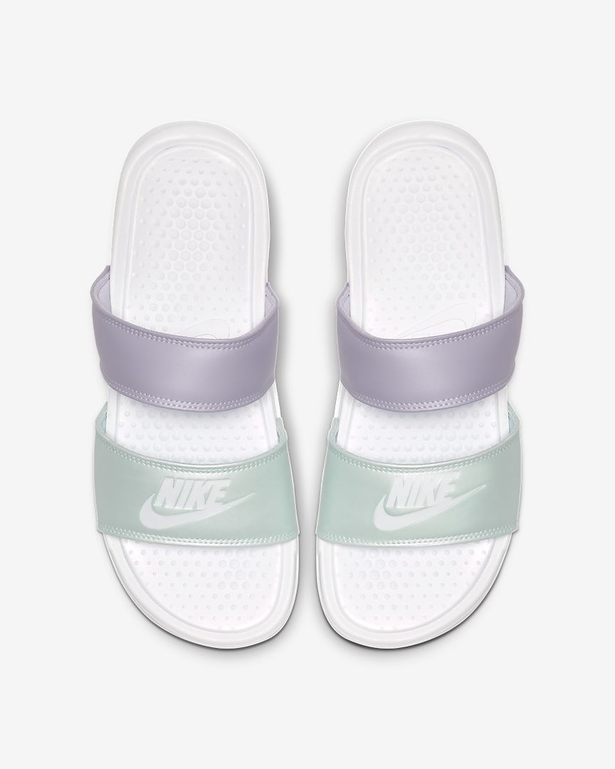 Nike Benassi Duo Ultra Slides Womens (White Oxygen Purple)