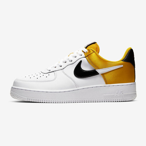 Men's Nike Air Force 1 'NBA Low Yellow Satin (Amarillo/Black/White)(BQ4420-700)
