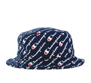 Champion All-over Reverse Weave Bucket Hat (Navy)