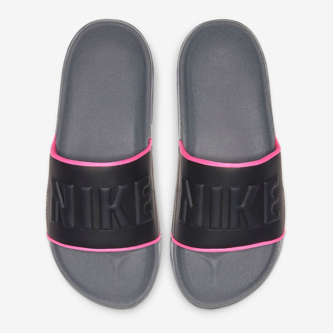 Women's Nike Offcourt Slides Icon Clash (Dark Grey/Pink Blast/Black)(BQ4632-004)