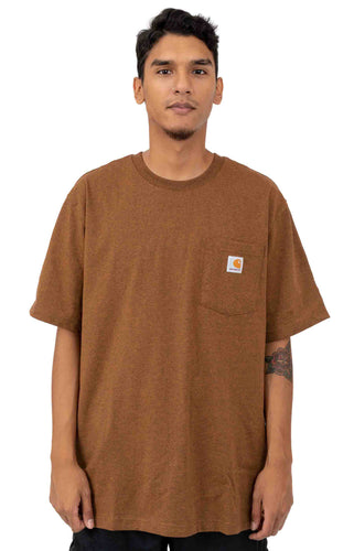 (PRE ORDER)Carhartt K87 Workwear Pocket T-Shirt (Oiled Walnut Heather)(Oversized fit)(NO CASH ON DELIVERY - ALL ORDERS MUST BE PAID FULL IN ADVANCE)