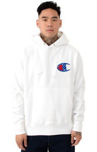 Champion Reverse Weave Sublimated C Logo Pullover Hoodie (White)