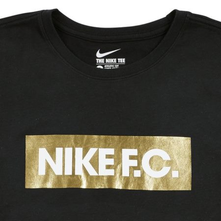 Nike F.C. Gold Foil Tee in Black