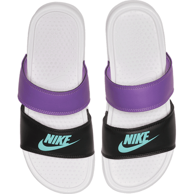 Nike Benassi Duo Ultra Slides Womens (White Aurora Green Black)