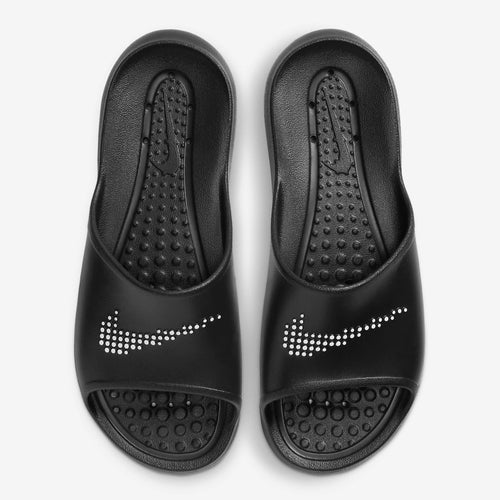 Women's Nike Victori One Shower Slides (Black/White)(CZ7836-001)