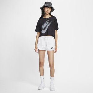 Women's Nike Air Classic Tapered Shorts (White)(CJ3135-100)