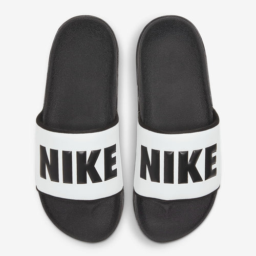 Women's Nike Chinelo Offcourt Icon Clash Slides (Black/White)(BQ4632-002)