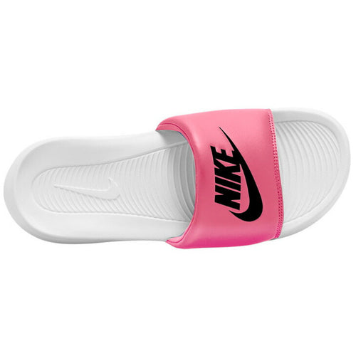 Women's Nike Victori One Slides (White/Sunset Pulse/Black)(CN9677-102)