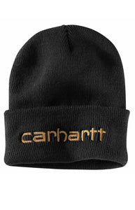 Carhartt Teller Hat Embroidered Logo (Black)