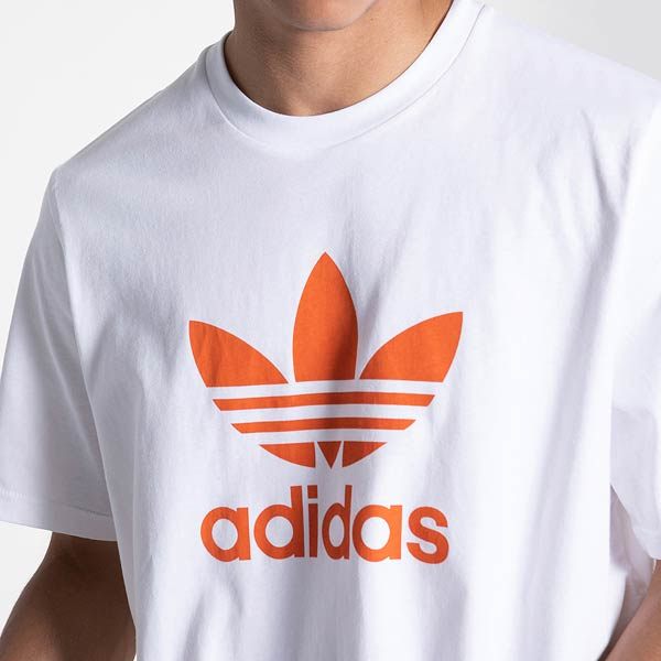 Adidas Originals Trefoil Tee (White/Orange)