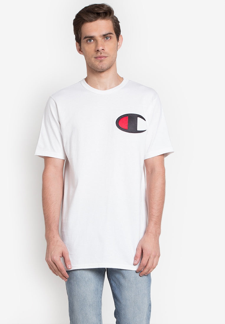 Champion Large Logo Heritage Tee (White)
