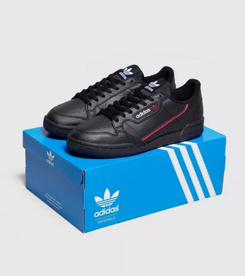 Adidas Originals Continental 80 (Black/ Scarlet)