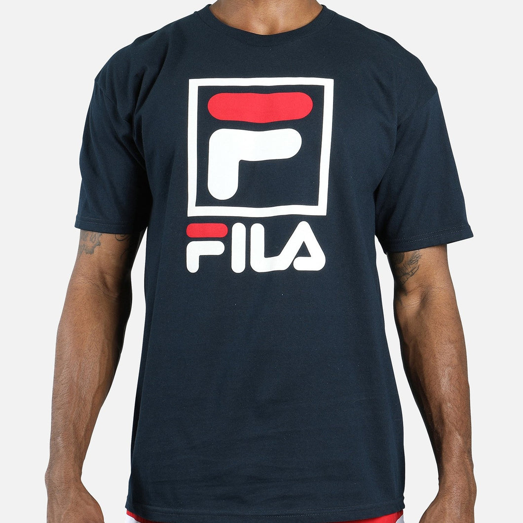 FILA Stacked Tee (Navy)