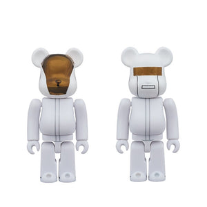100% BE@RBRICK Daft Punk White Suit (2-pack)