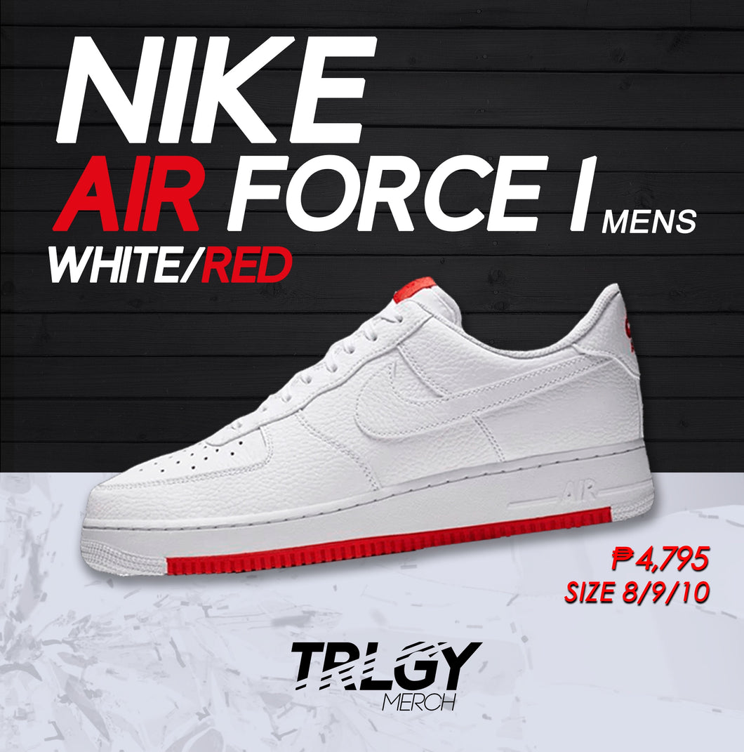 Nike Air Force 1 '07 (White Habanero Red)
