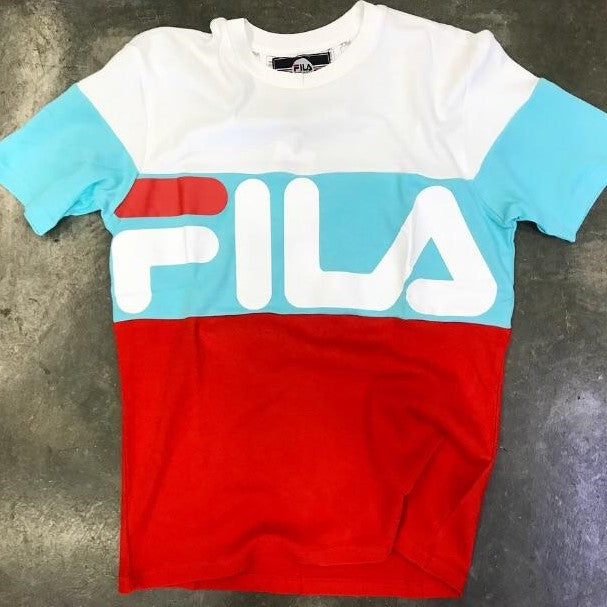 FILA Vialli Tee (White/Light Blue/Red)