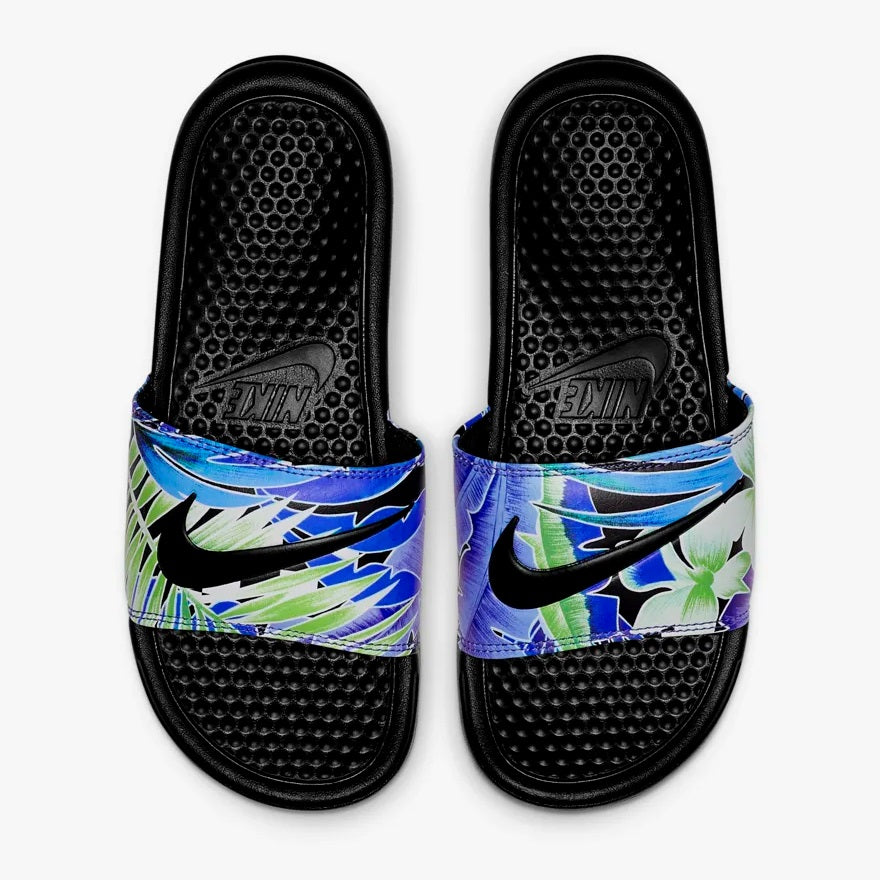 Women's Nike Benassi Just Do It Print (Blue Floral)