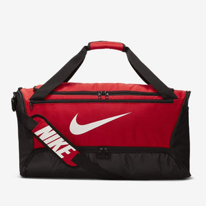Nike Brasilia Duffel Bag (Small - 41L)(Black/Red)(BA5957-657)