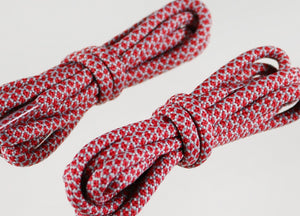 Red and Grey Rope Laces