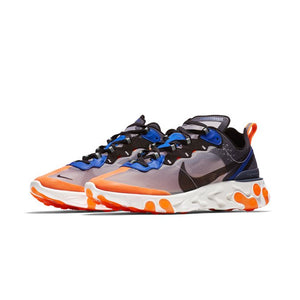 Nike React Element 87 Wolf grey / Black / Thunder Blue