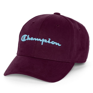 Champion Classic Twill Hat Leather Strap back (Venetian Purple)
