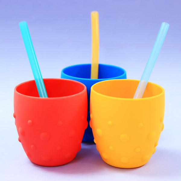 Marcus & Marcus Reusable Silicone Straws & Brush Set