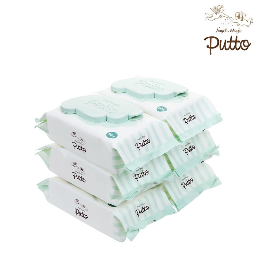 Putto Secret Premium Embossing 60gsm Baby Wet Tissue w/CAP 60 sheets x 6 Packs