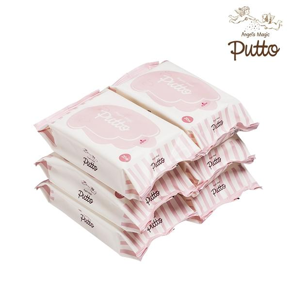 Putto Secret Embossing 60gsm Baby Travel Wet Tissue 20 sheets x 6 Packs