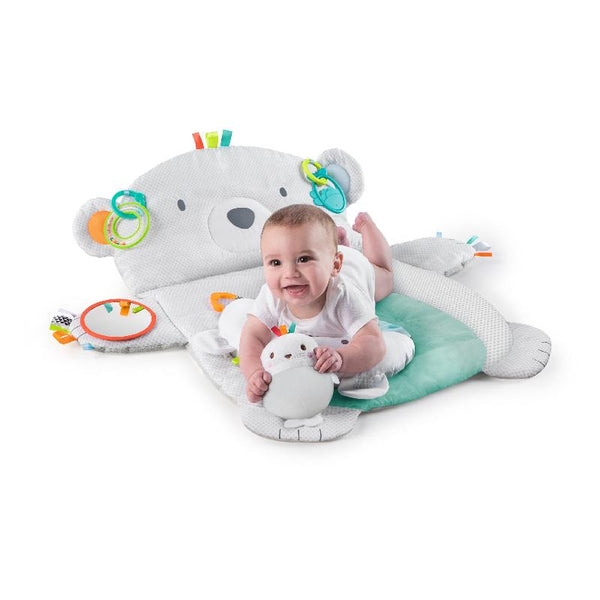 Bright Starts Tummy Time Prop & Play Prop Mat - Polar Bear BS10841 - Picket&Rail