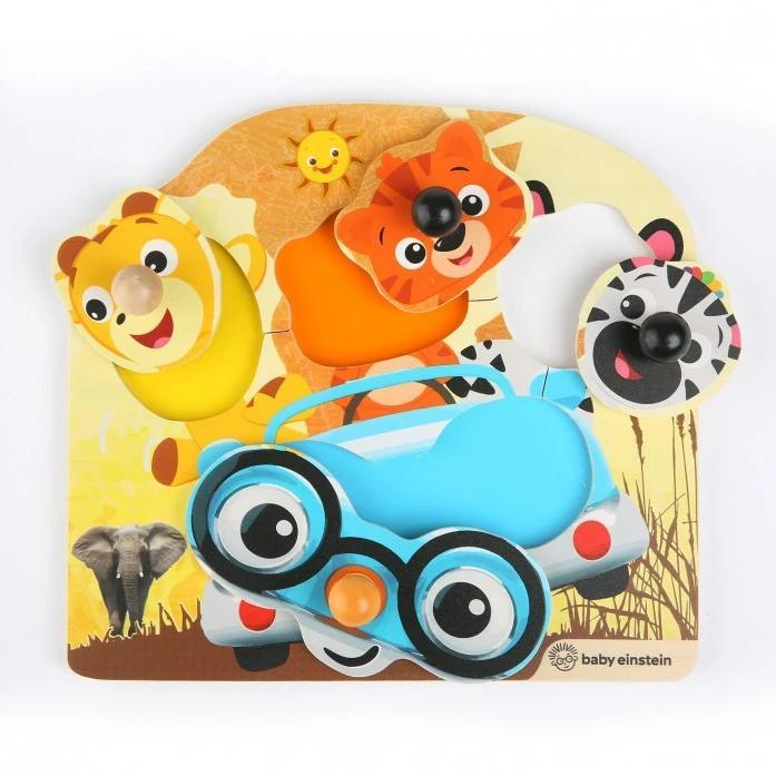Baby Einstein BE11654 (0) Hape Friendly Safari Faces Wooden Puzzle