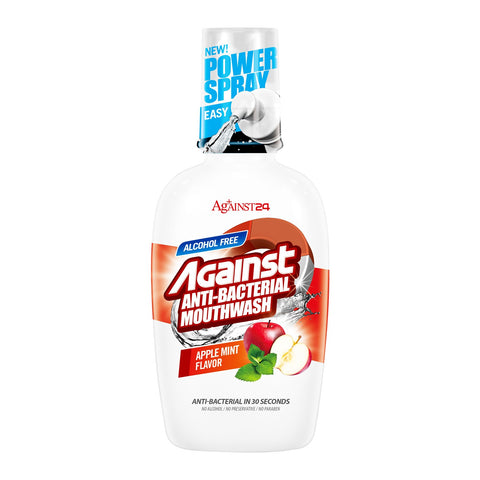 Against24 Antibacterial Mouthwash (Apple & Menthol)
