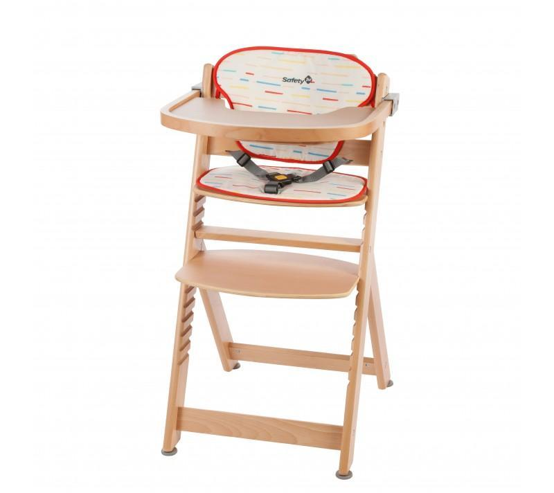 Safety 1st Timba & Cushion - Red LinesNatural Wood
