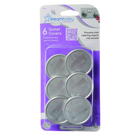 Dreambaby Outlet Plugs 6pk - Silver DB01044