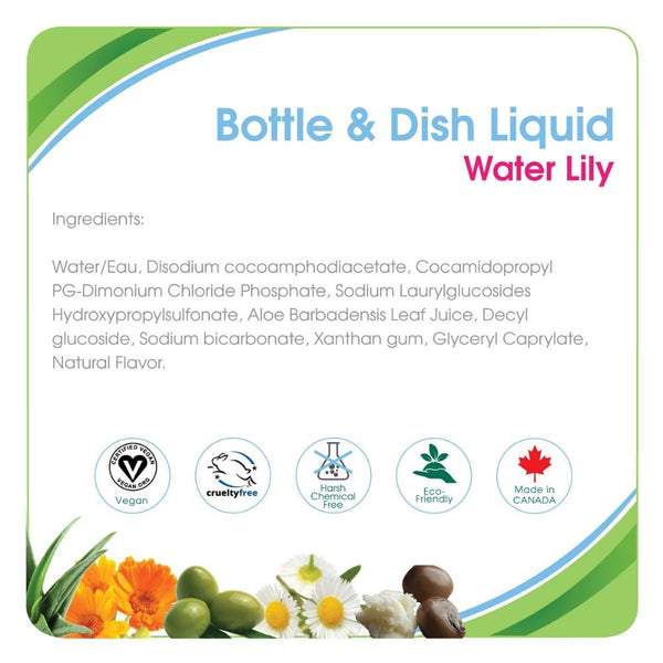 Aleva Naturals Bottle & Dish Liquid - Water Lily (16.9 fl.oz / 500ml)