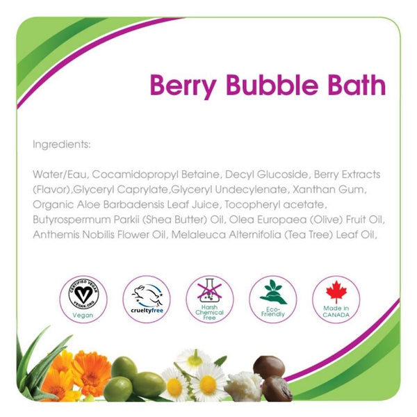 Aleva Naturals Berry Bubble Bath (8 fl.oz / 240ml)