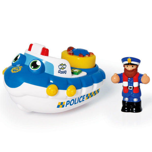 WOW Toys Police Boat Perry (Bath Toy)