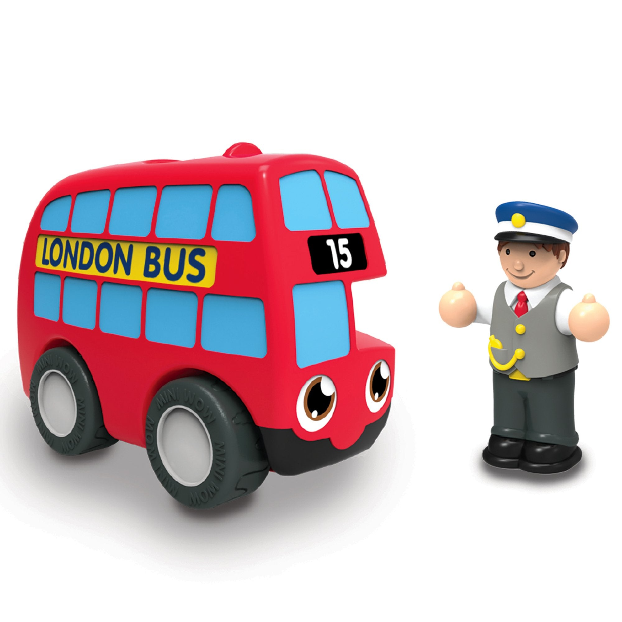 WOW Toys My First WOW- Red Bus Basil
