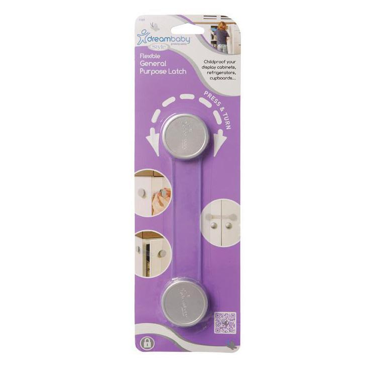 Dreambaby General Purpose Latch - Silver DB01009